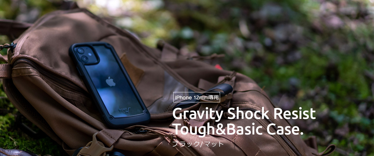iPhone12mini専用 ROOT CO. GRAVITY SHOCK RESIST TOUGH&BASIC CASE iPhoneケース