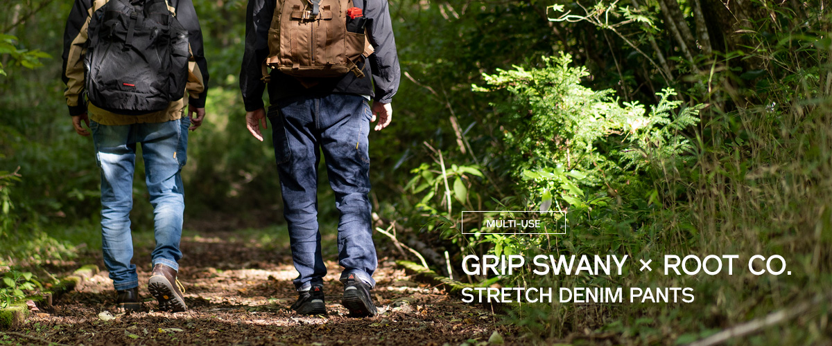 GGP-4378(GRIP SWANY STRETCH DENIM PANTS ROOT CO. Collaboration Model)